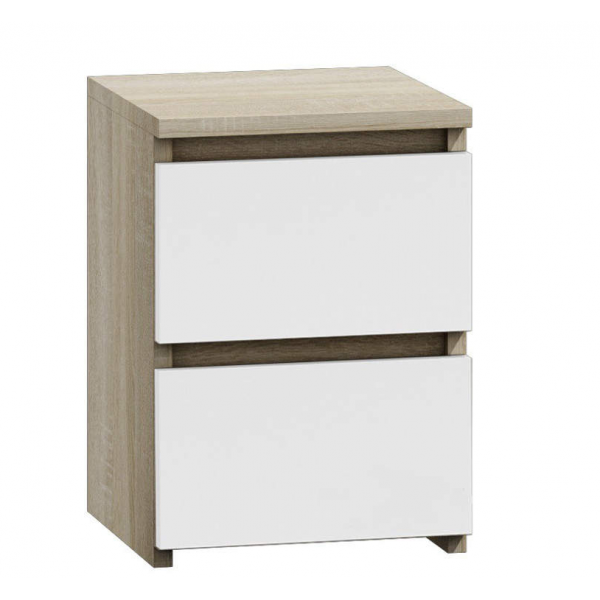 BEDROOM FURNITURE  Bedside Cabinet M2 MIX White Oak