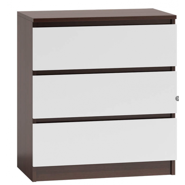 LIVING ROOM BEDROOM FURNITURE SIDEBOARD WENGE-WHITE