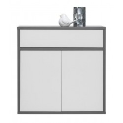 Bedroom Furniture Zonda Z04 Sideboard White Gloss/Grey