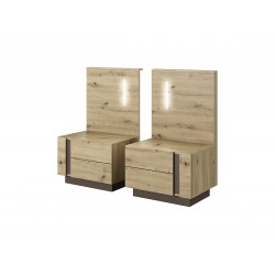Bedroom Furniture Arco Bedsite Tables Artisan Oak