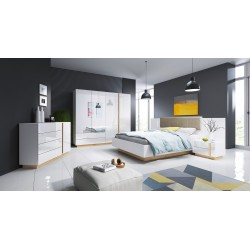 Bedroom Furniture Arco Bedroom Set White Gloss