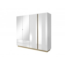 Bedroom Furniture Arco Wardrobe White Gloss