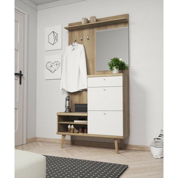 Hallway Furniture Primo Set Oak- White