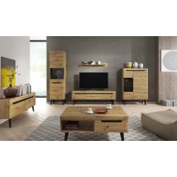 Living Room Furniture Nordi Wall Unit Set 3 Artisan Oak