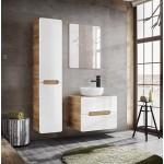 Bathroom Furniture Aruba White Set White Gloss / Oak 800mm