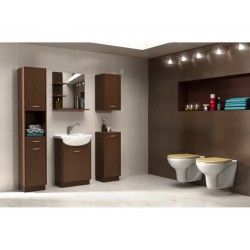BATHROOM FURNITURE NANCY BATHROOM SET DARK OAK MATTE