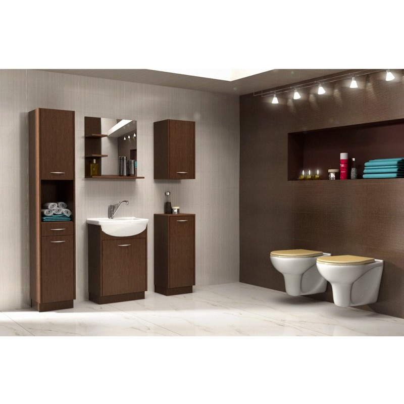 Bathroom Furniture Nancy Bathroom Set Dark Oak Matte