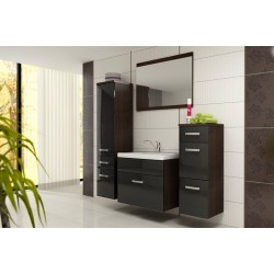 BATHROOM FURNITURE EVO BATHROOM SET WENGE MATTE/BLACK GLOSS