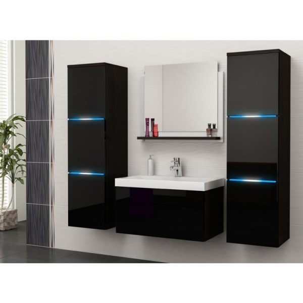 BATHROOM FURNITURE ROKO BATHROOM SET WENGE MATTE