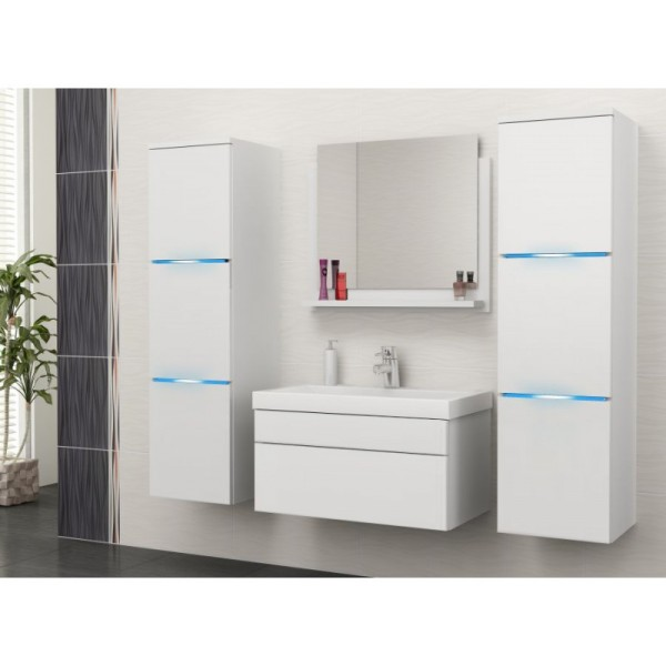 BATHROOM FURNITURE ROKO BATHROOM SET WHITE MATTE/WHITE GLOSS