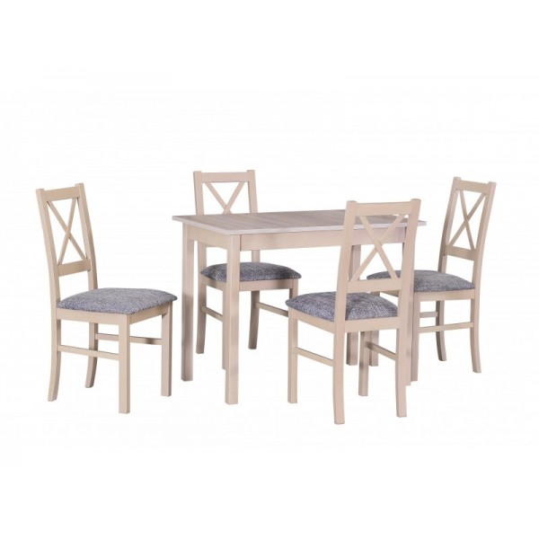 Solid Beech Wood Extending Dining Table Set VIII