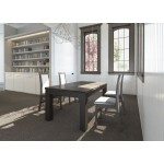 Solid Beech Wood Extending Dining Table Caesar I