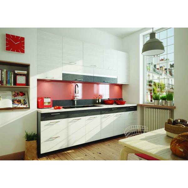 Kitchen Furniture F17 Kitchen Set White/Grey Matt
