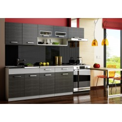 Kitchen Furniture F27 Kitchen Set grey/black Matte