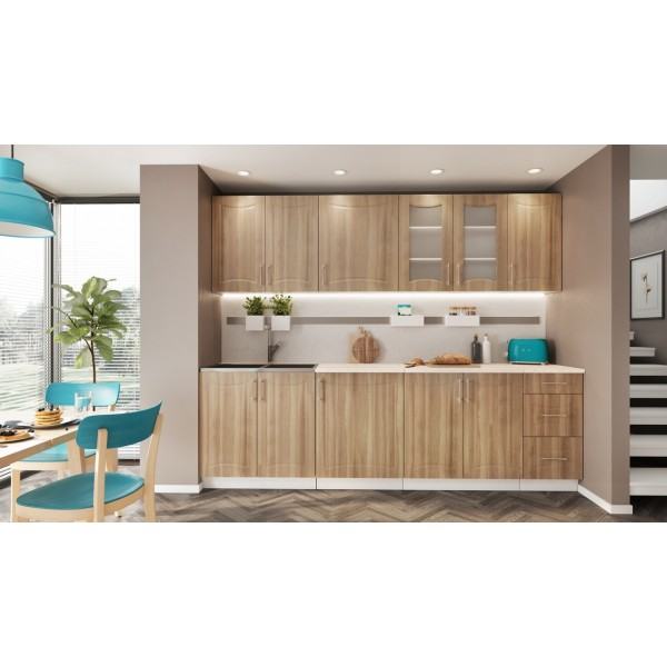 Kitchen Furniture F22 Kitchen Set Light Oak Matt