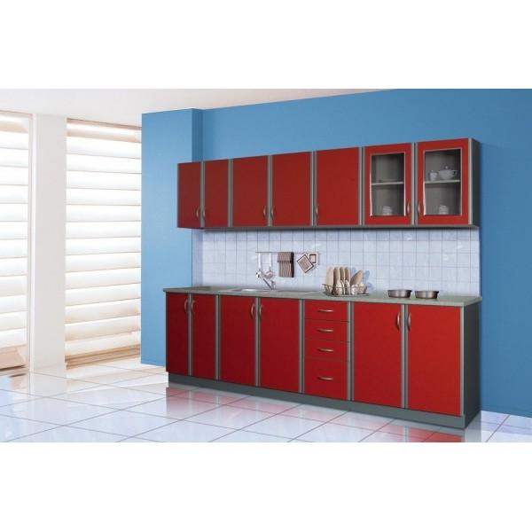 Kitchen Furniture F10 Kitchen Set Burgundy