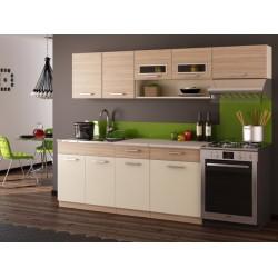 Kitchen Furniture F26 Kitchen Set Vanilla / Oak Matt