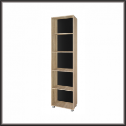 Living Room Furniture Gordia 50 Bookcase Light Oak