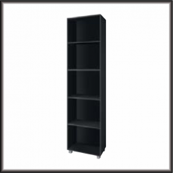 Living Room Furniture Gordia 50 Bookcase Black Matte