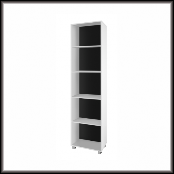 Living Room Furniture Gordia 50 Bookcase White Matte