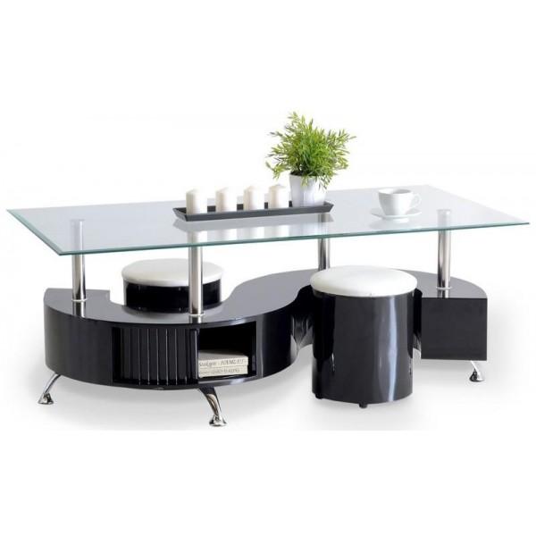 Living Room Furniture Coffee Table Arcadia Black