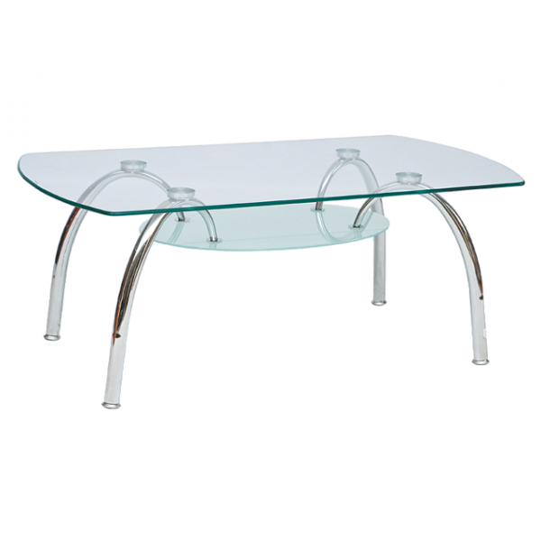 Living Room Furniture Coffee Table Arachne Glass