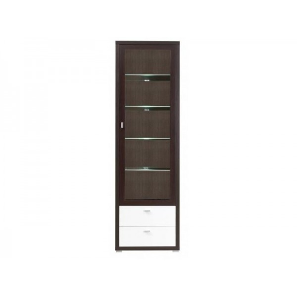 Dining Room Furniture Kendo 10 Display Stand Color Chestnut/White Gloss