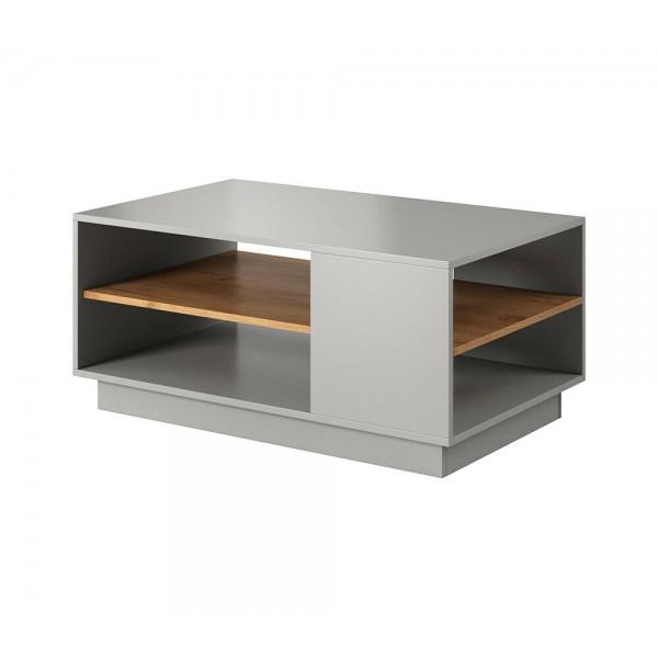 Living Room Furniture 3D Coffee Table Oak/Grey