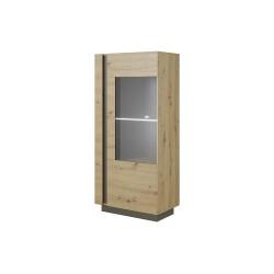 Living Room Furniture Arco Low Display Cabinet Oak/Grey