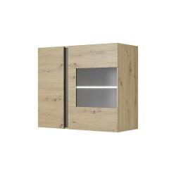 Living Room Furniture Arco Wall Display Cabinet Oak/Grey