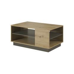 Living Room Furniture Arco Coffee Table Set Oak/Grey