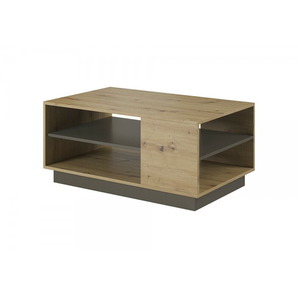 Living Room Furniture Arco Coffee Table Set Oak/Grey