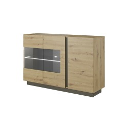 Living Room Furniture Arco Sideboard Oak/Grey