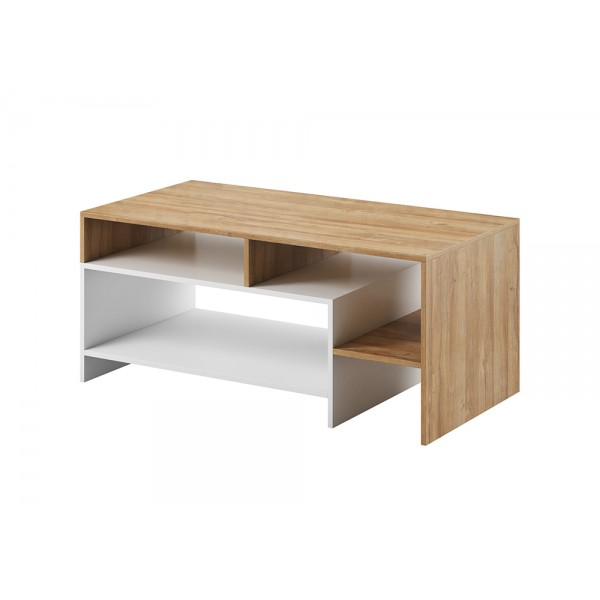 Living Room Furniture Alva Coffee Table Oak/White