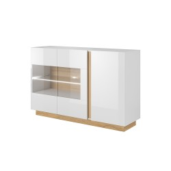 Living Room Furniture Arco Sideboard White Gloss/Oak