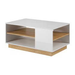Living Room Furniture Arco Coffee Table Set White Gloss/Oak