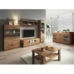 Living Room Furniture Lena Wall Unit Set Oak