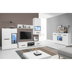 Living Room Furniture Pedro Wall Unit Set White / White MDF Gloss
