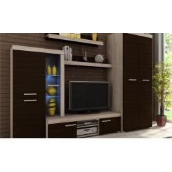 Living Room Furniture Sergio II Wall Unit Set Oak