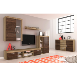 Living Room Furniture Tom II Wall Unit Set Oak/Arusha Wenge