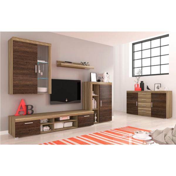 Living Room Furniture Tom II Wall Unit Set Oak/Arusha Wenge