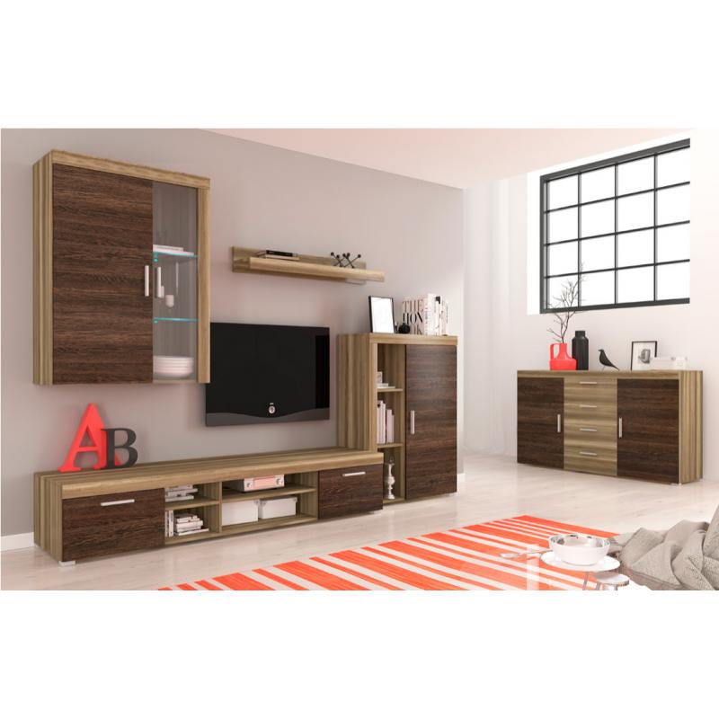 living room furniture tom ii wall unit set oak arusha wenge rh heaven furniture co uk  wenge wall hung vanity unit