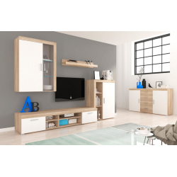 Living Room Furniture Tom II Wall Unit Set Oak/White