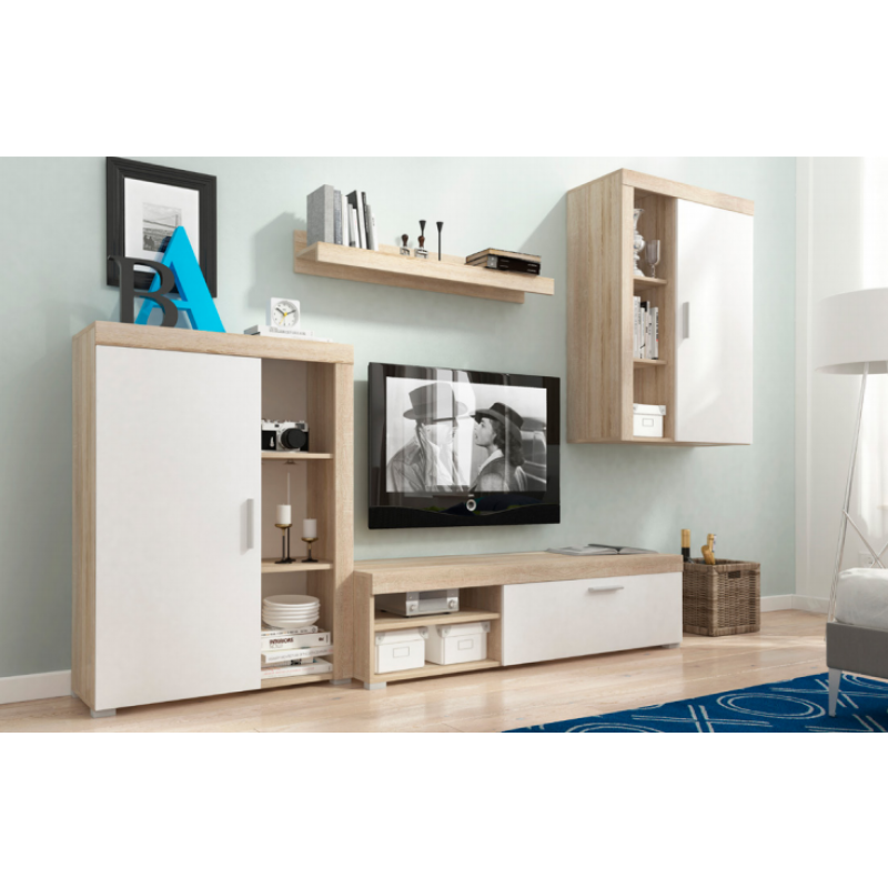 Living Room Furniture Oli Wall Unit Set Country White