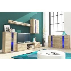 Living Room Furniture Life Wall Unit Set Oak