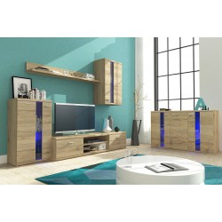 Living Room Furniture Life Wall Unit Set San Remo Oak