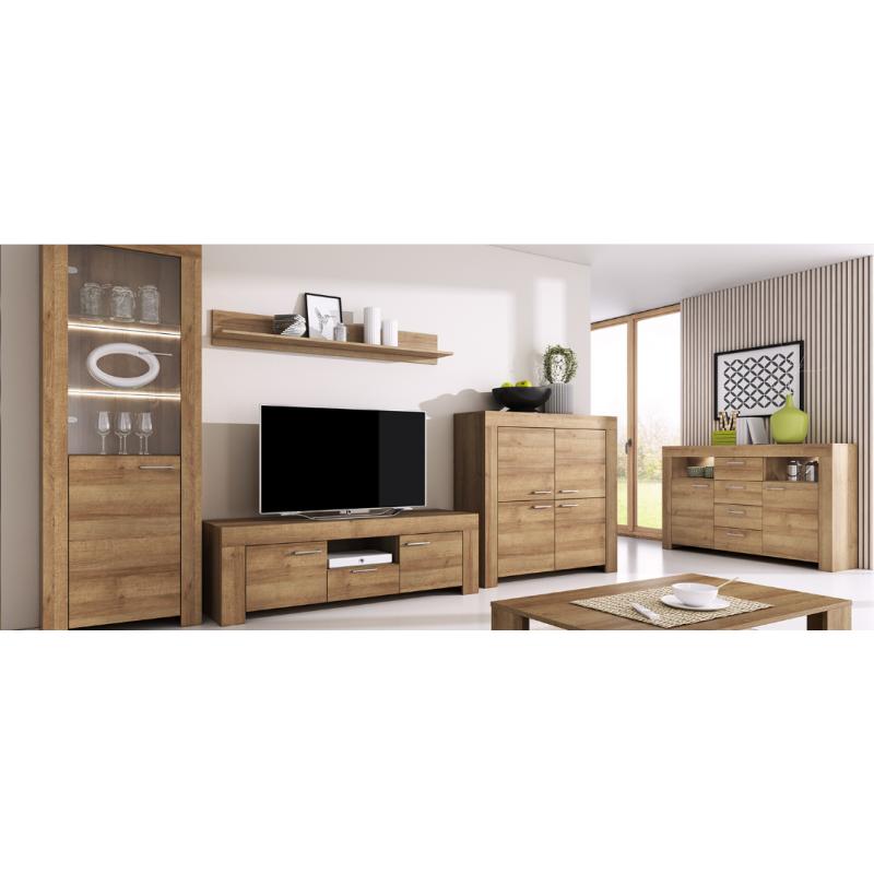Living Room Furniture Sky Wall Unit Set, Oak Living Room Furniture Sets Uk