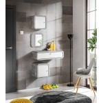 Hallway Furniture Wally 1 Set White Gloss/ Light Atelier