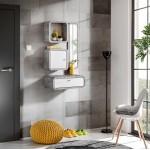 Hallway Furniture Wally 3 Set White Gloss/ Light Atelier