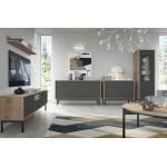 Living Room Furniture Basic Wall Unit Set Jackson Hickory / Graphite